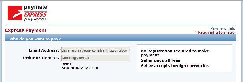 Paymate Screen Shot