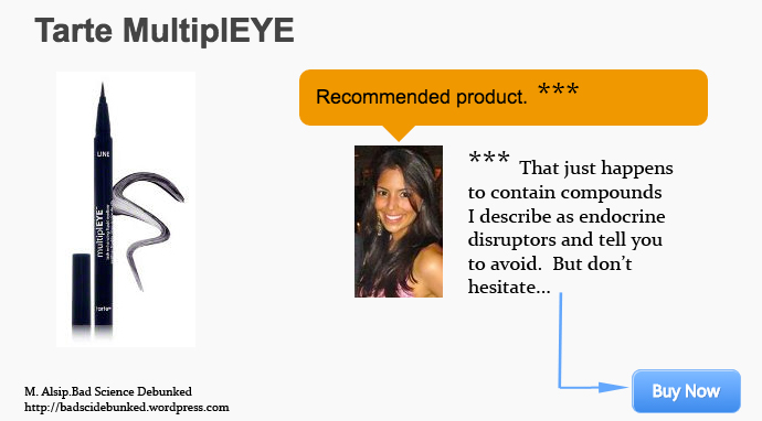 "Over Three Dozen Times and Counting, Food Babe Sells Another ""Toxic"" Product:  Tarte MutiplEYE Eye Liner"