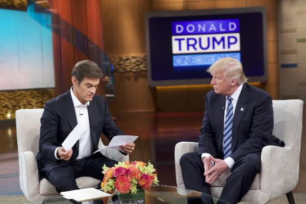 14 ways Dr. Oz proves in Trump interview that on TV Oz just plays a doctor