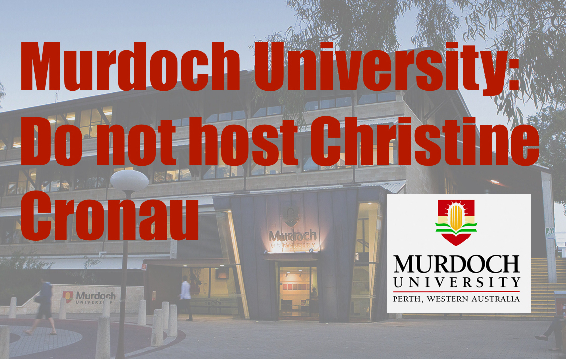An open letter to Vice Chancellor Professor Eeva Leinonen and members of the Murdoch University senior executive team